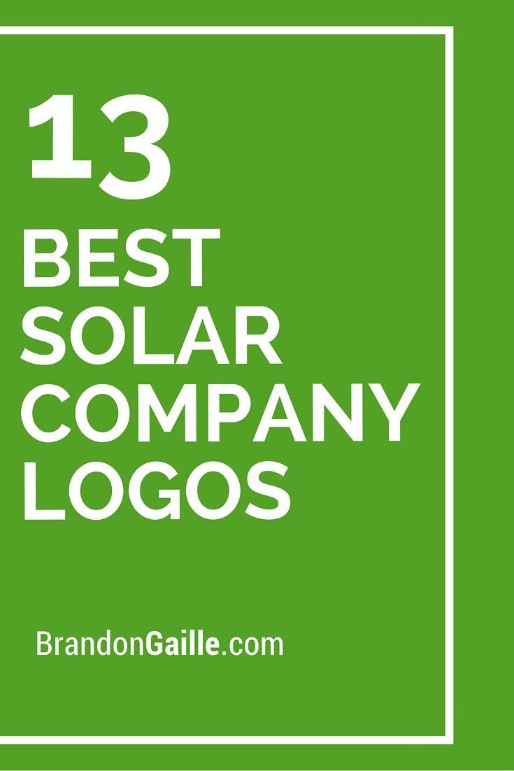 List Of The 13 Best Solar Company Logos Companies