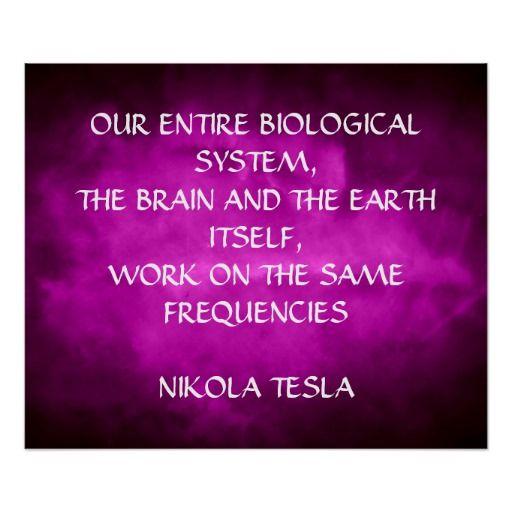 Nikola Tesla Quote Same Frequencies Poster Zazzle Com Nikola Tesla Quotes Tesla Quotes Nikola Tesla