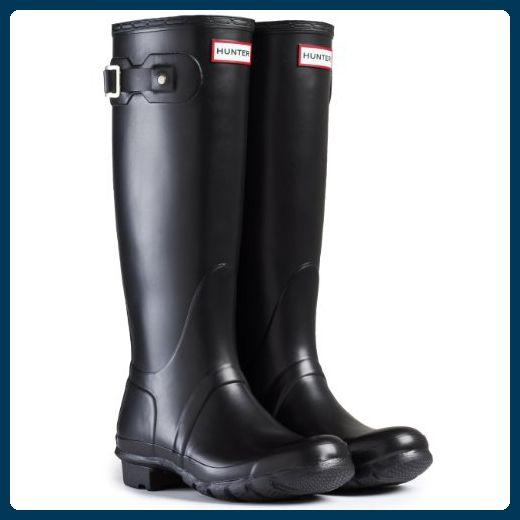 Damen Hunter Wellington Stiefels Original Tall Regen Schnee Wellies Neu -  Schwarz - 40/41