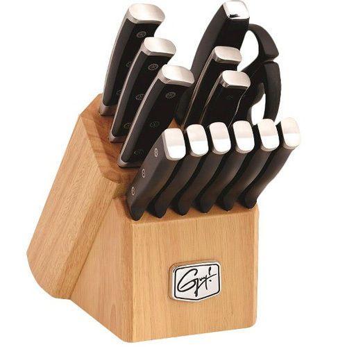 Guy Fieri Gourmet 14 Piece Triple Riveted Knife Set