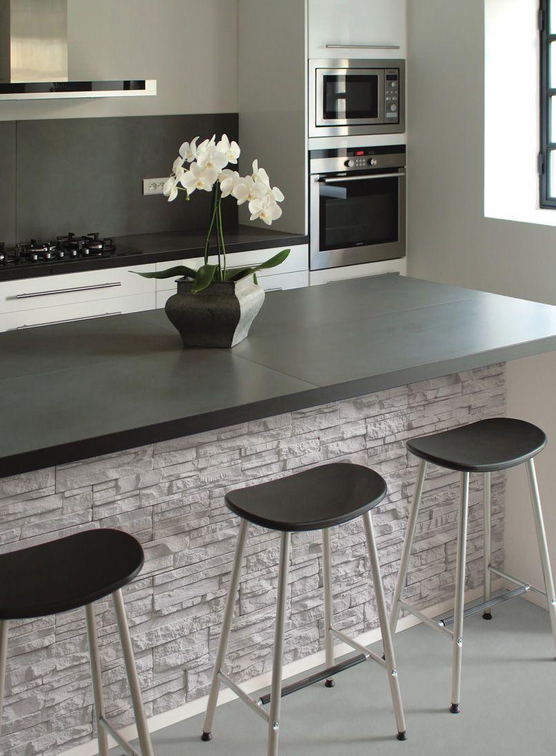 Concrete wall cladding panel / exterior / interior / stone look ...
