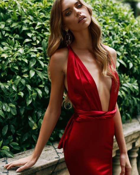 87f76aa43a0e Sexy Open Back Mermaid Deep V-neckline Red Prom Dress | prom ...