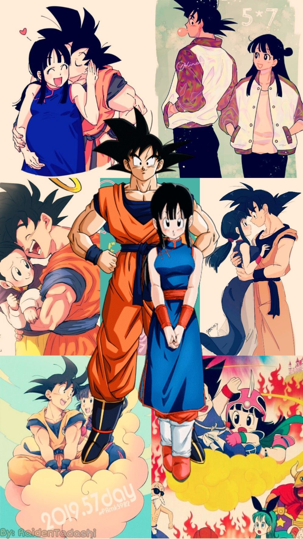 Wallpaper Gochi For Alishba All Credit To The Authors Of Fanart In Background Anime Dragon Ball Super Dragon Ball Art Dragon Ball Artwork