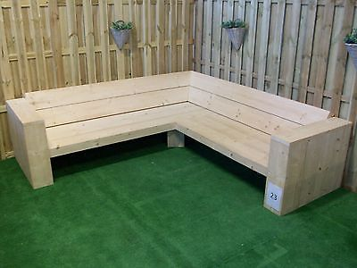 Delightful Scaffold Board Furniture   DIY Package For A Big Corner  Lounge Garden Sofa