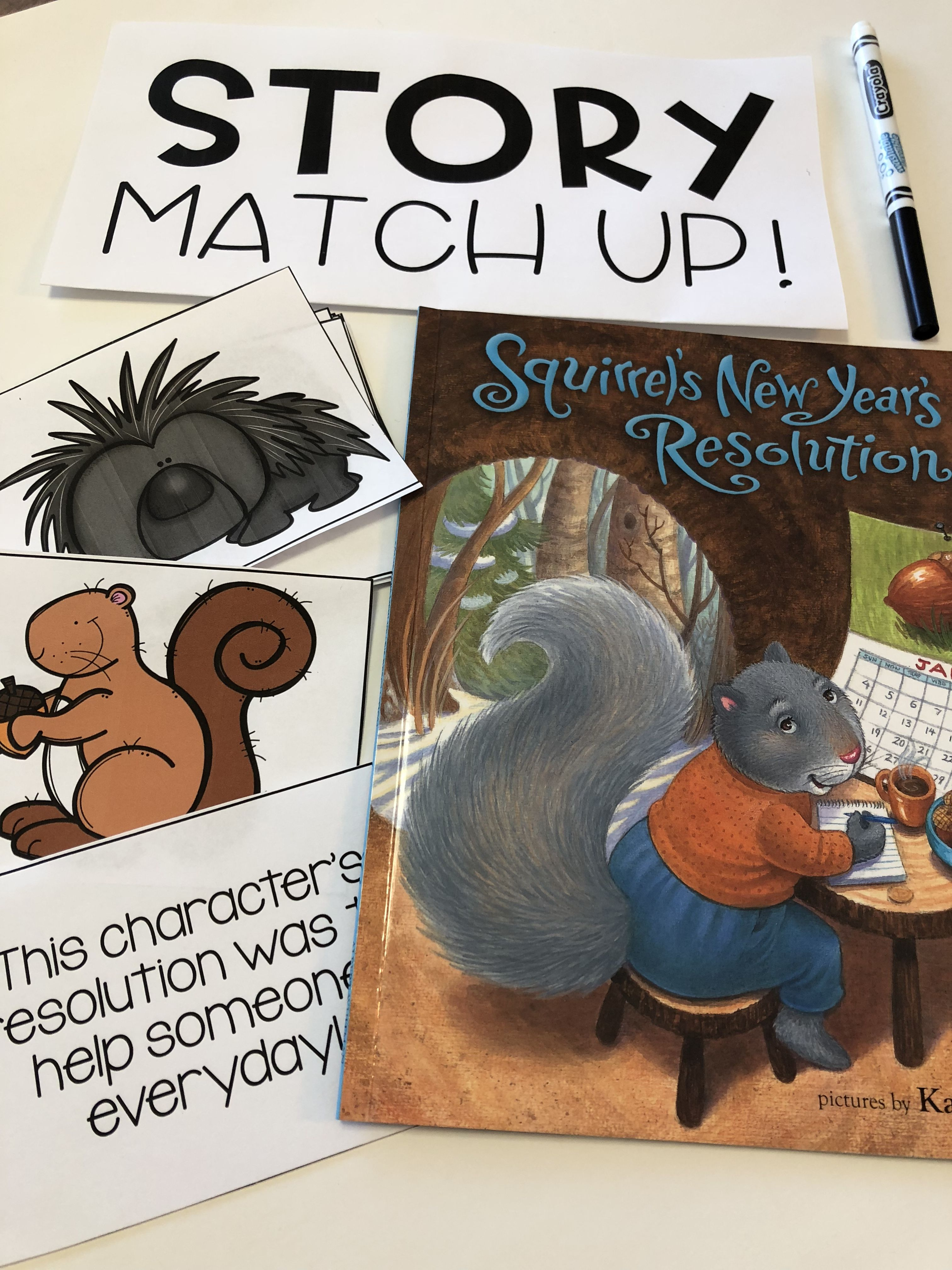 Squirrel S New Year S Resolutions Activities Newyear Pre School New Years Resolution
