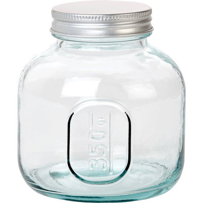 Bocal en verre recyclé avec bouchon 350G - Alinéa   Verre recyclé, Bocaux