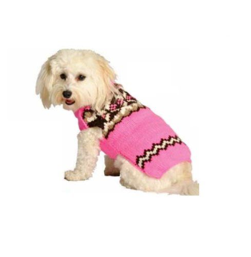 Chilly Dog Pink Aspen Fair Isle Dog Sweater XXSmall *** More info ...