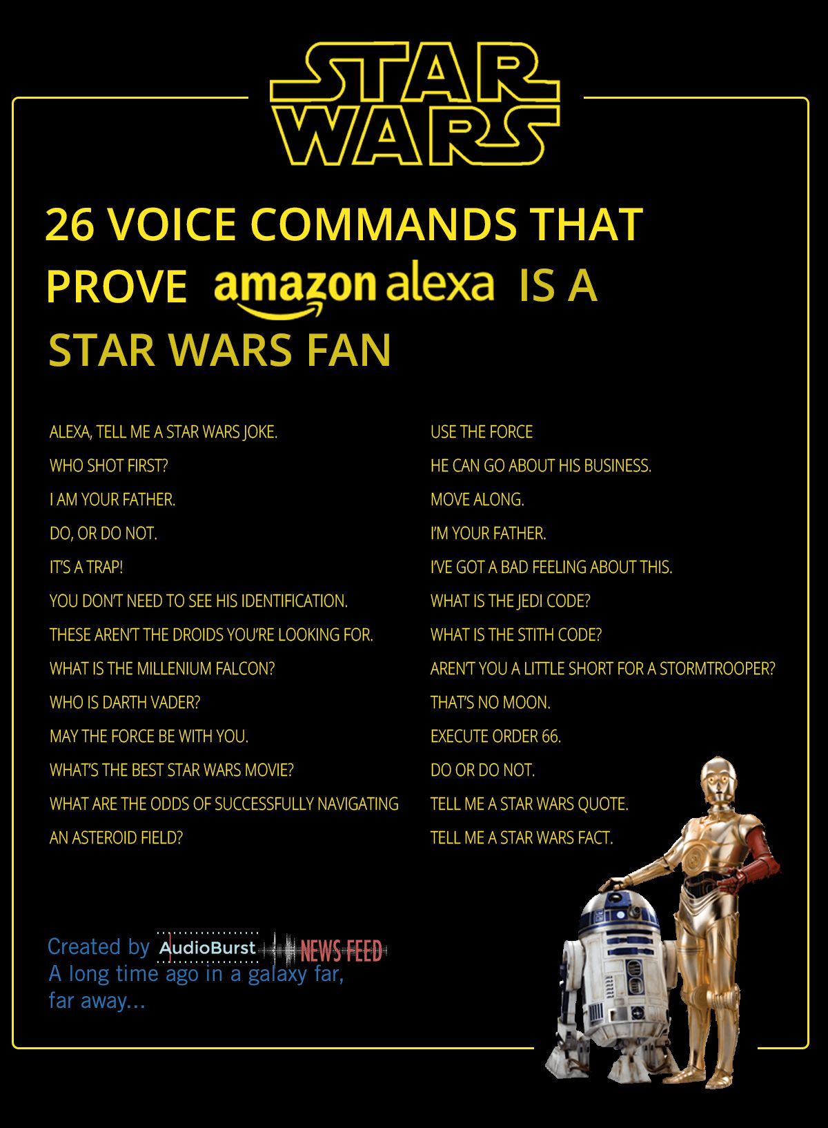Alexa Star Wars Funny Alexa Commands Alexa Tricks Star Wars
