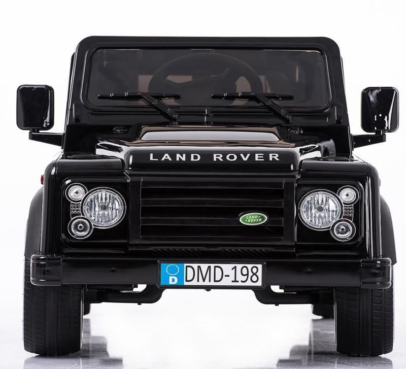 Land Rover Defender Metallic Zwart 12v Kinder Jeep Speelgoed