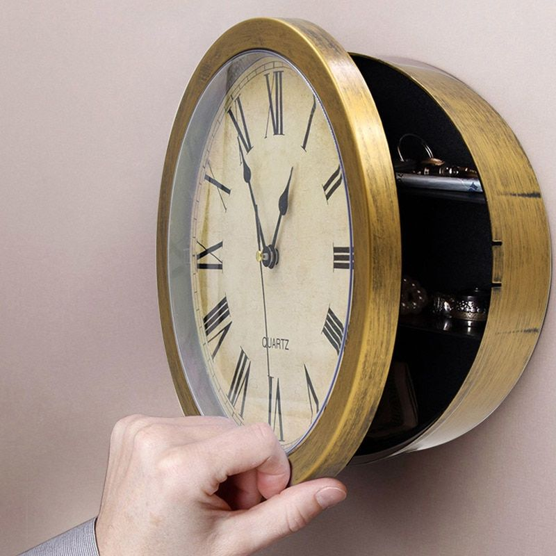 Details About Clock Safe Hidden Wall Secret Jewelry Security Money