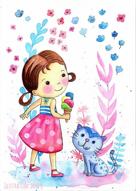 Pin Von Kati Helms Auf Puppi Illustration Kinder Madchen Malen