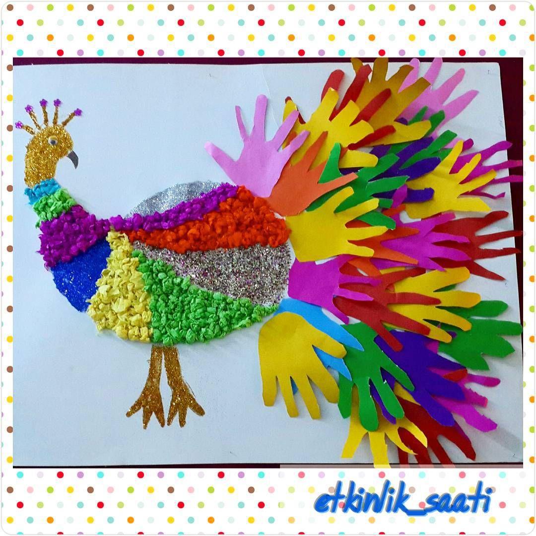 Handprint Animal Craft Idea For Kids