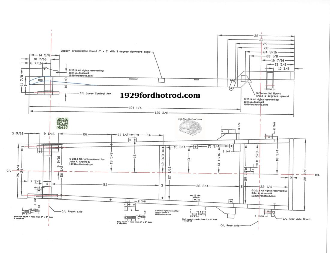 Street Rod Chassis Plans Using C4 Corvette Suspension 1 Carros Interior Wiring Diagram