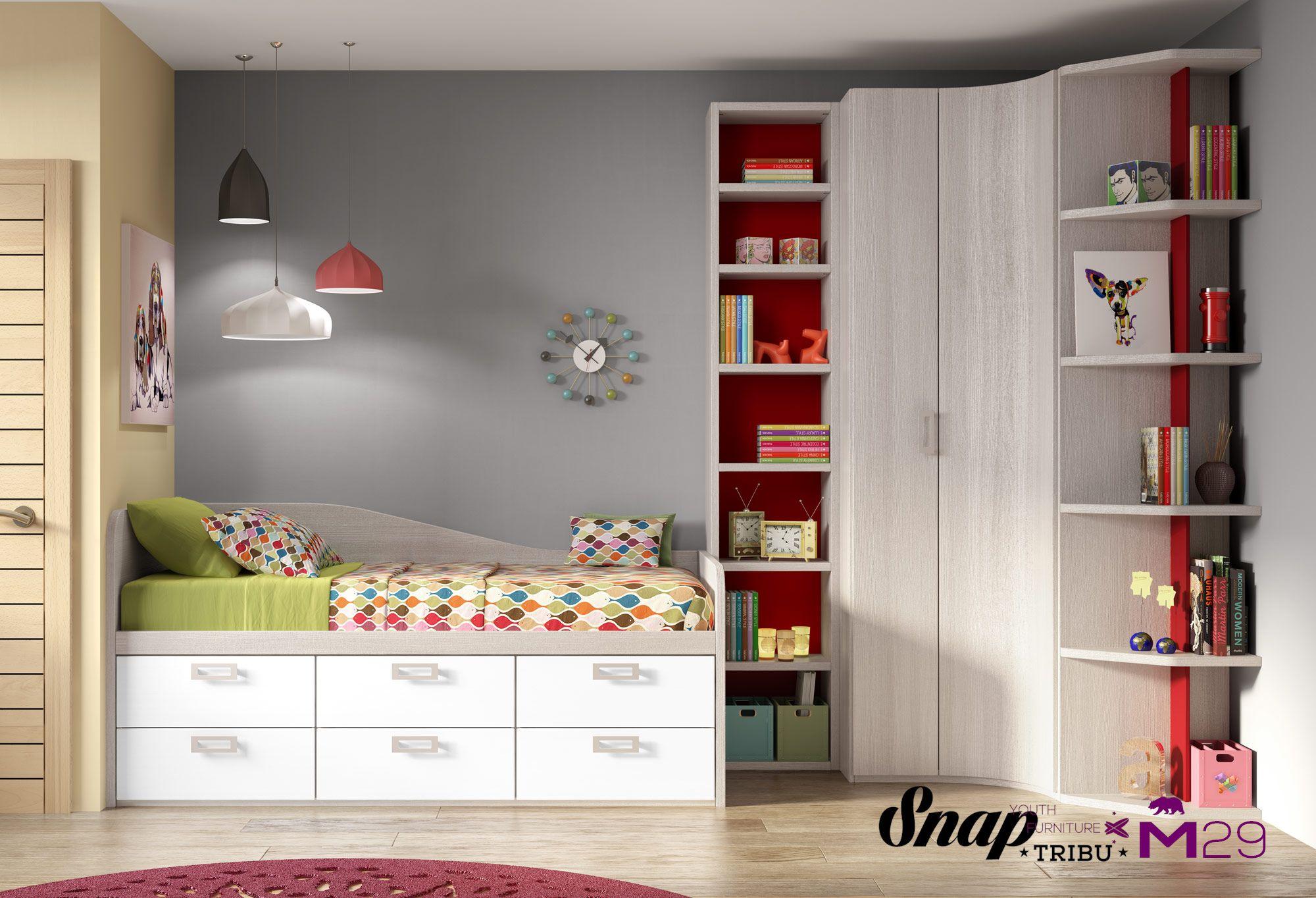 Tribu snap muebles hermida mueble juvenil m29 for Muebles juveniles zona norte