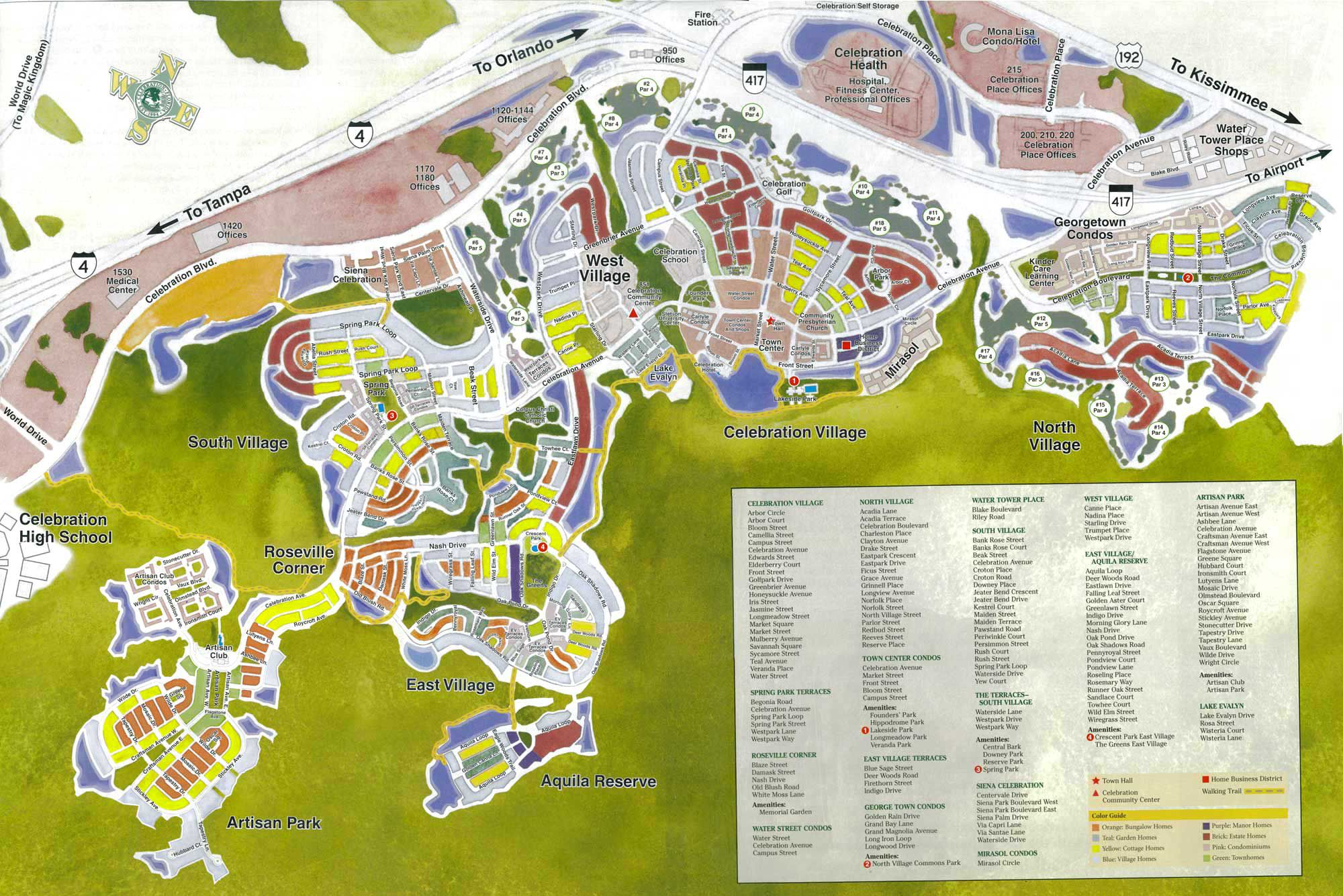 Celebration Florida Map Celebration Florida