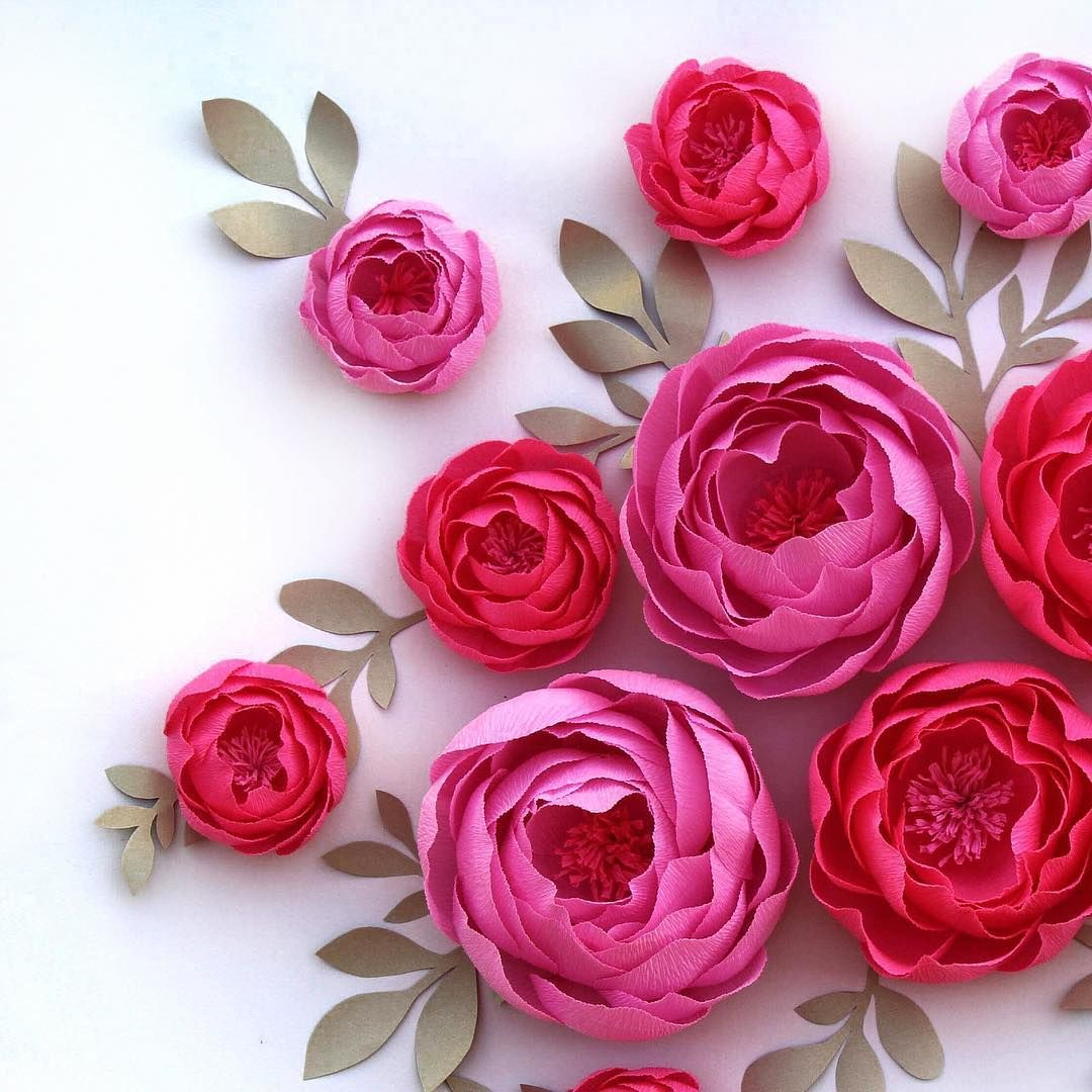 New Paper Flowers Set For Interior Decoration Paper Flowers