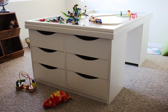 12 Drawer Kids Activity Storage Table Plans With Images