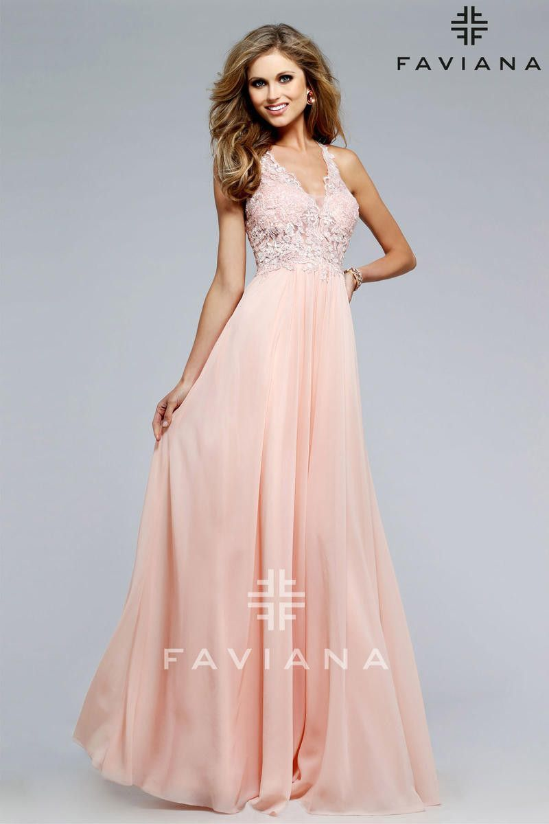 The Fabric In This Style Is Chiffon Faviana | Clothing | Pinterest
