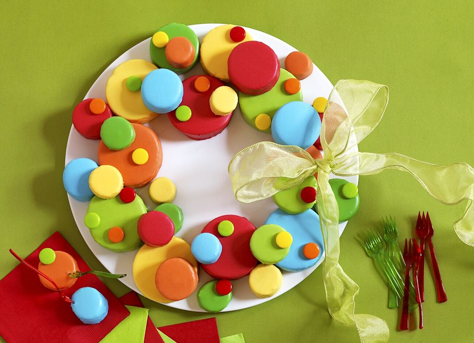 Christmas bubble wreath cake made with sara lee pound cake