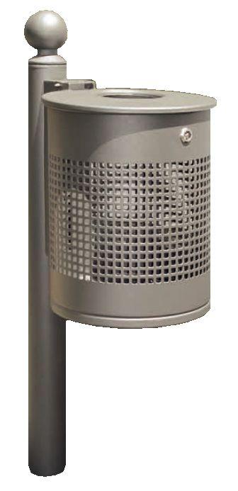 Abfallbehälter AFB 04 aus Stahlblech mit reduziertem Einwurf von 120