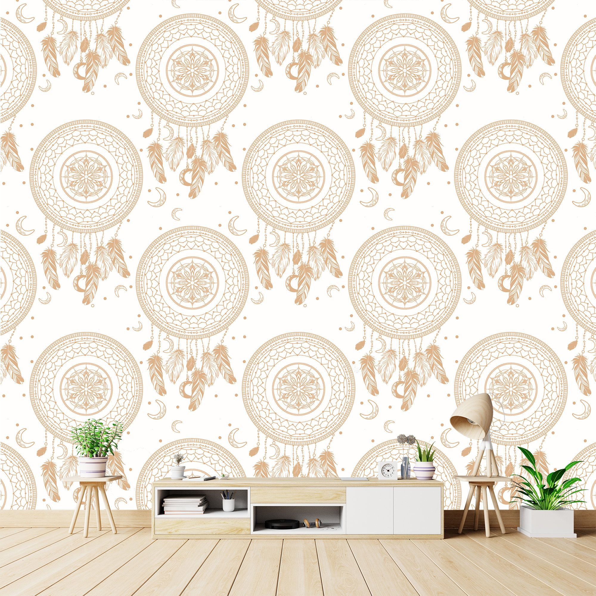 Bohemian Wallpaper Removable Wallpaper Dream Catcher Wall Mural Peel Stick Made In Europe Sel Bohemian Wallpaper Removable Wallpaper Boho Wallpaper