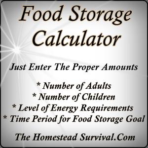 Food Storage Calculator The Homestead Survival Homesteading
