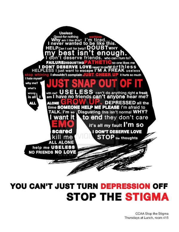 Stop The Stigma Poster By GothicWaters