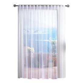 Awesome Solaris 108 In L White Mesh Outdoor Sheer Curtain   Great Way To Dress Up