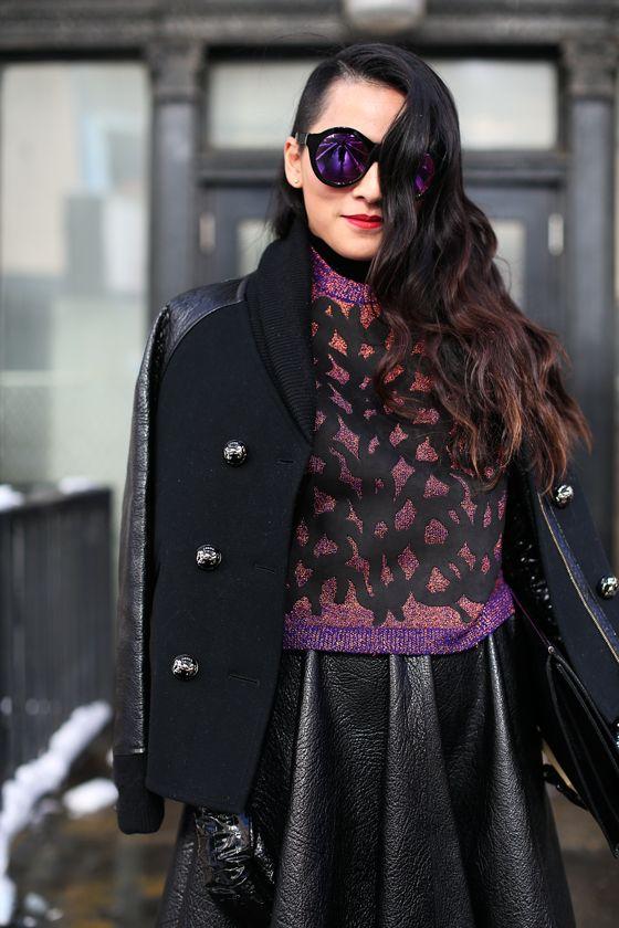 Tina Leung. Mirrowed sunglasses