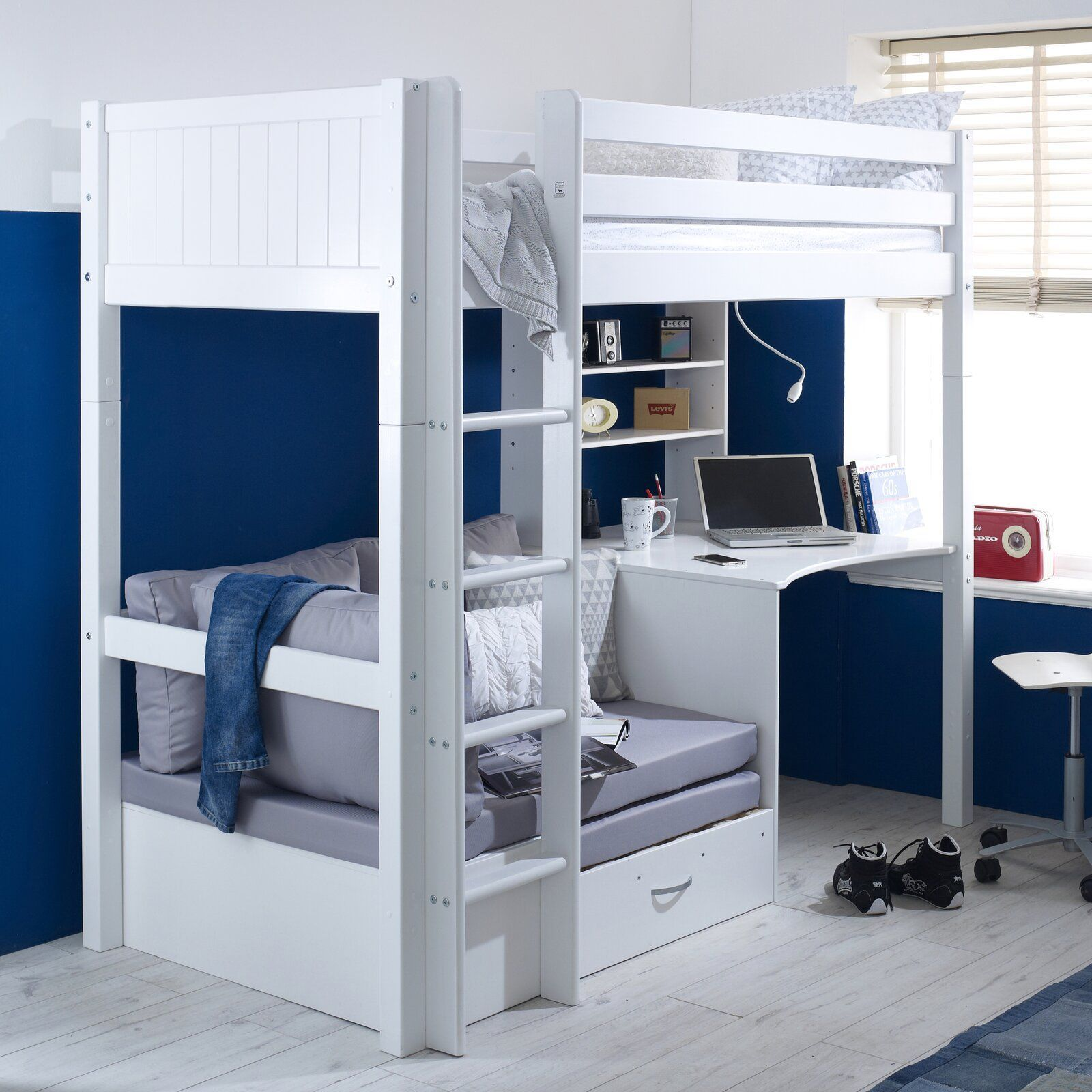 Stand European Single High Sleeper Bett Mit Ausziehbett High Sleeper Bed High Sleeper Bunk Bed With Desk