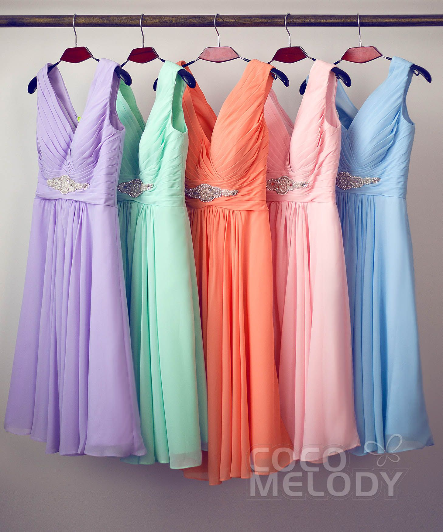 Hot selling a line v neck knee length chiffon bridesmaids dress hot selling a line v neck knee length chiffon bridesmaids dress cozk1302a ombrellifo Image collections