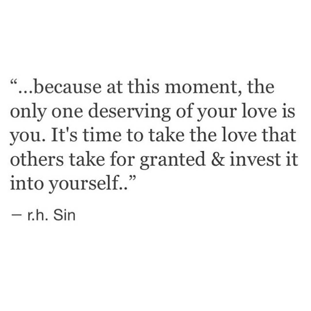 Let him go and love yourself finally