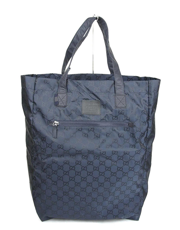 c12bbeaae670 Gucci Unisex Guccissima Blue Nylon Handbag Viaggio Collection Tote ...