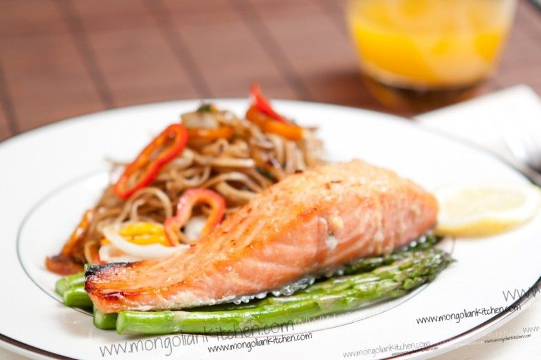 Salmon with Ginger & Lime