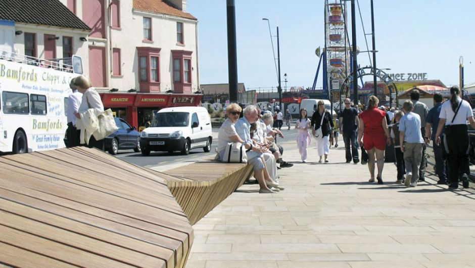 Scarborough Harbourside, LDA Design, Street Furniture, Landscape  Architecture, Hardwood, Woodscape,