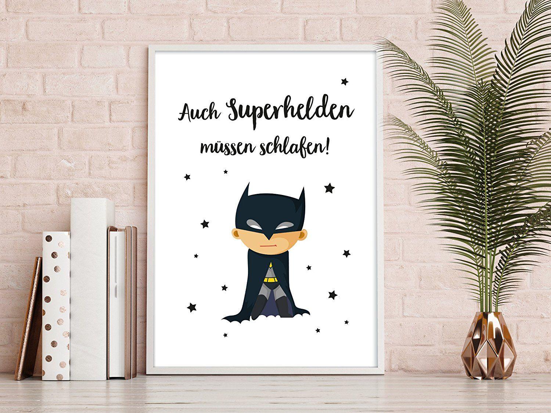 Auch Superhelden müssen schlafen! Schönes Wandbild für das ...