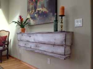 White Distressed Wall Shelves