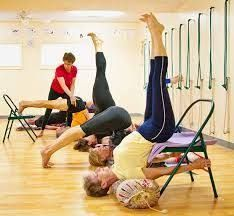 image result for iyengar yoga backbend chair with images