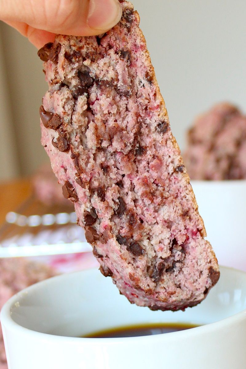 Raspberry Chocolate Chip Biscotti
