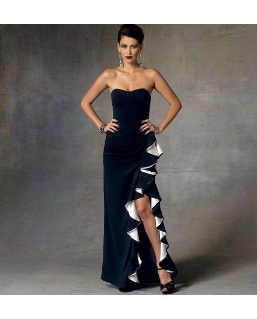 vogue 1426:Extravagantes, langes Kleid von BADGLEY MISCHKA ...
