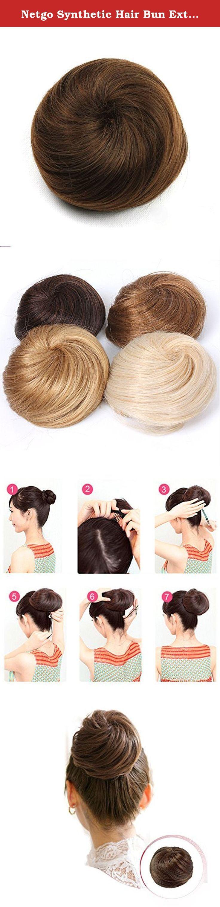 Netgo Synthetic Hair Bun Extensions Donut Chignon Hairpiece Wig