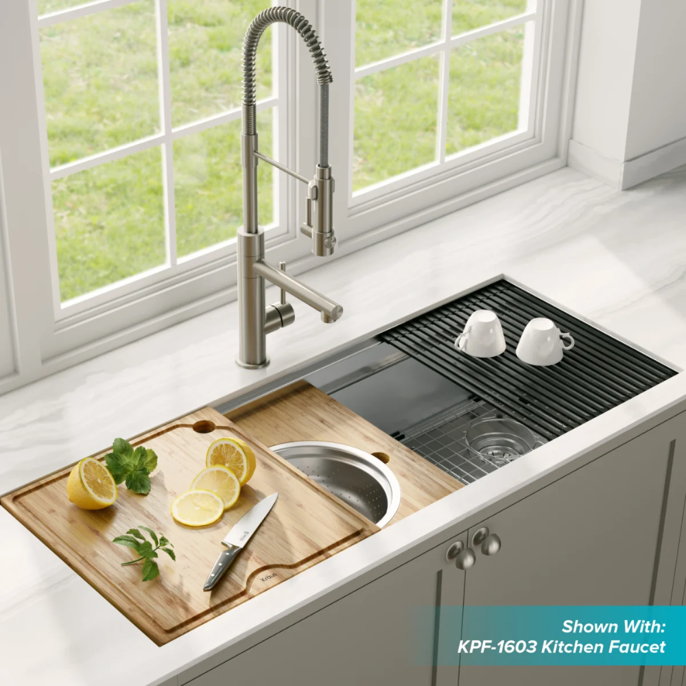 Kraus Kwu120 45 Build Com Kitchen Decor Inspiration Stainless Steel Kitchen Sink Stainless Steel Kitchen Sink Undermount