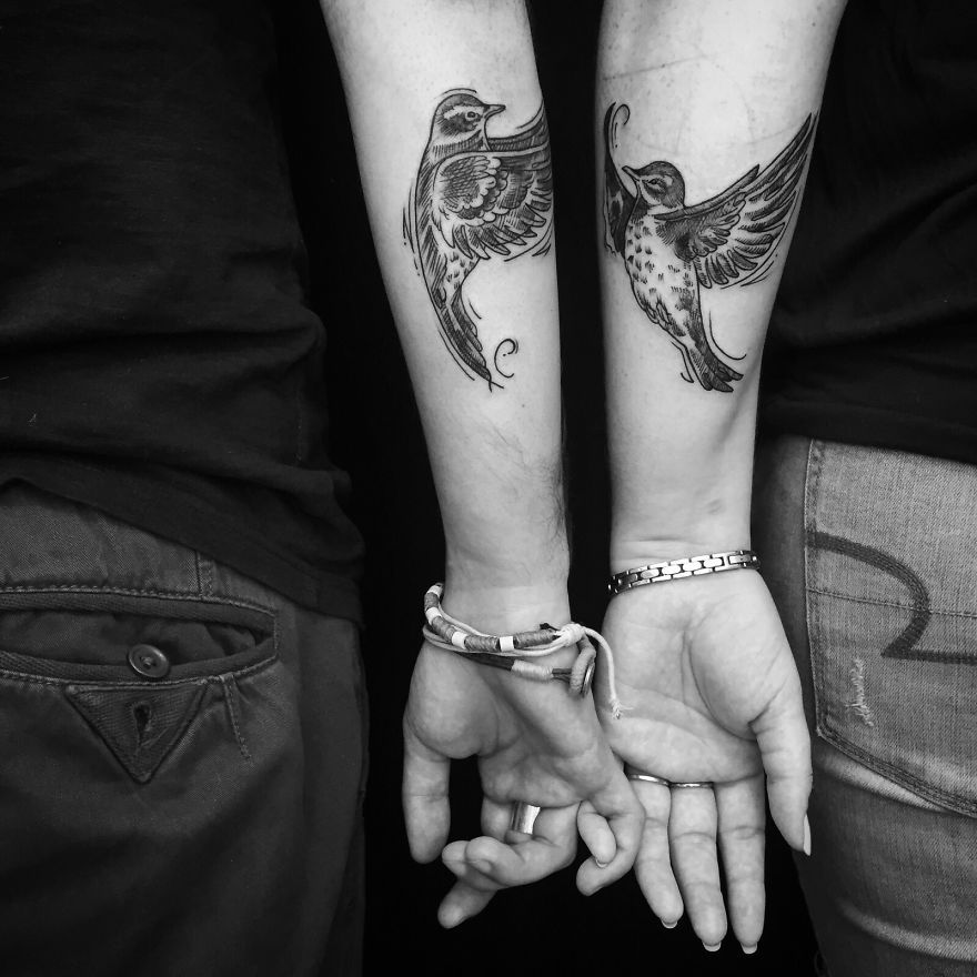kärleks tatueringar par