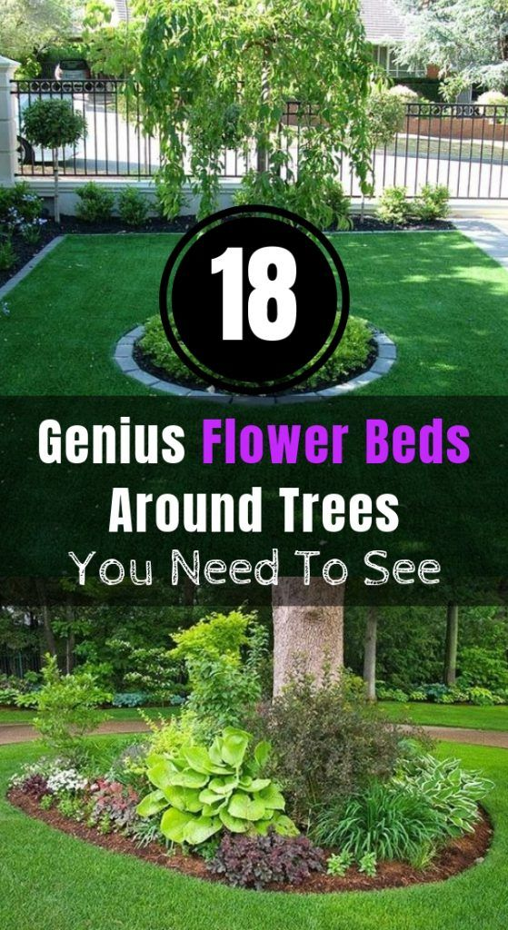 18 Genius Flower Beds Around Trees You Need To See #flowerbeds