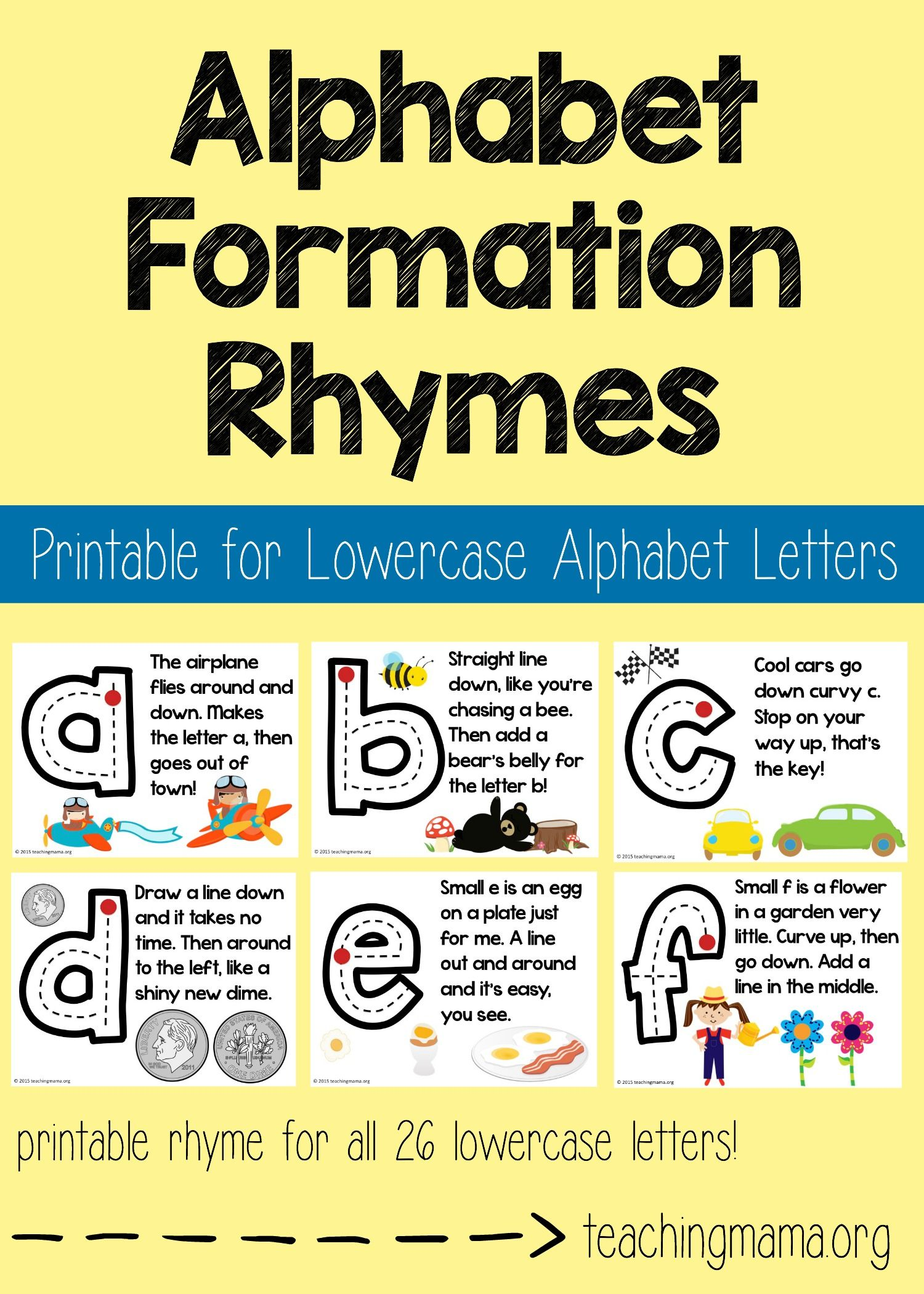 Worksheet Rhyming Words With Around lowercase alphabet formation rhymes to share number fun little help children learn how write lowercase