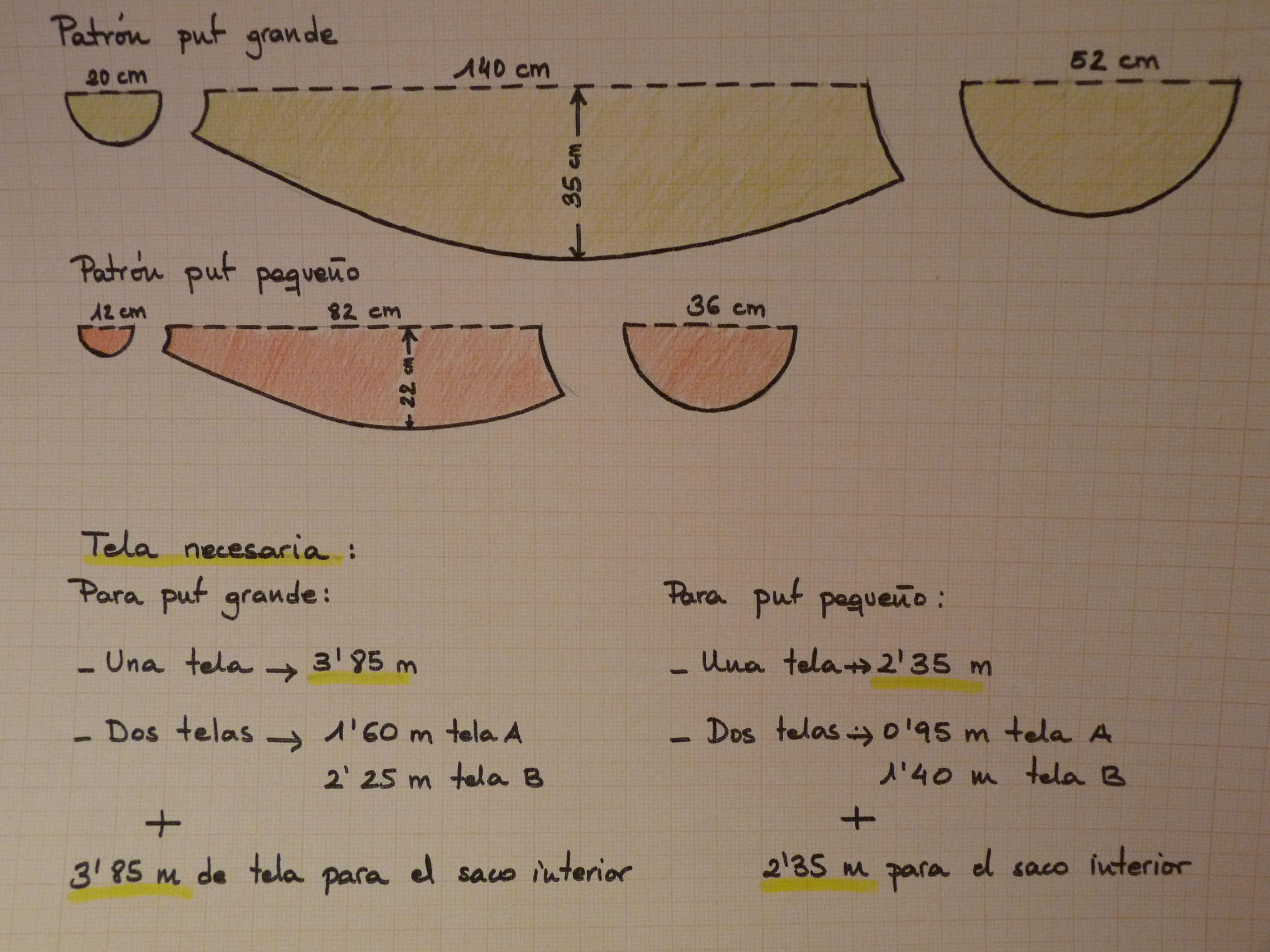 resultado de imagen para como hacer un puff pera - Como Hacer Un Puff Pera