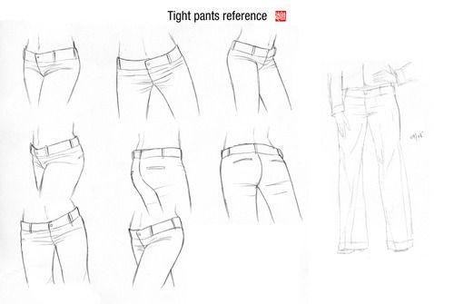 Tight Pants Reference By Randychen Com Imagens Desenhos De