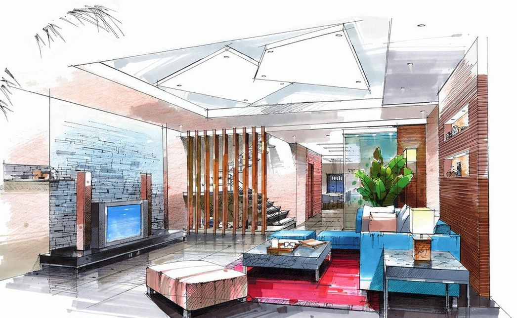 interior sketch - Google 搜尋 | Interior design sketches ...