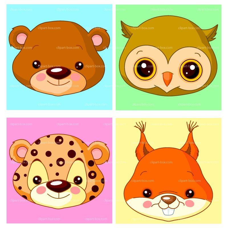 Clipart Animal S Head Royalty Free Vector Design Avatar Animals Animal Illustration Art Animal Heads
