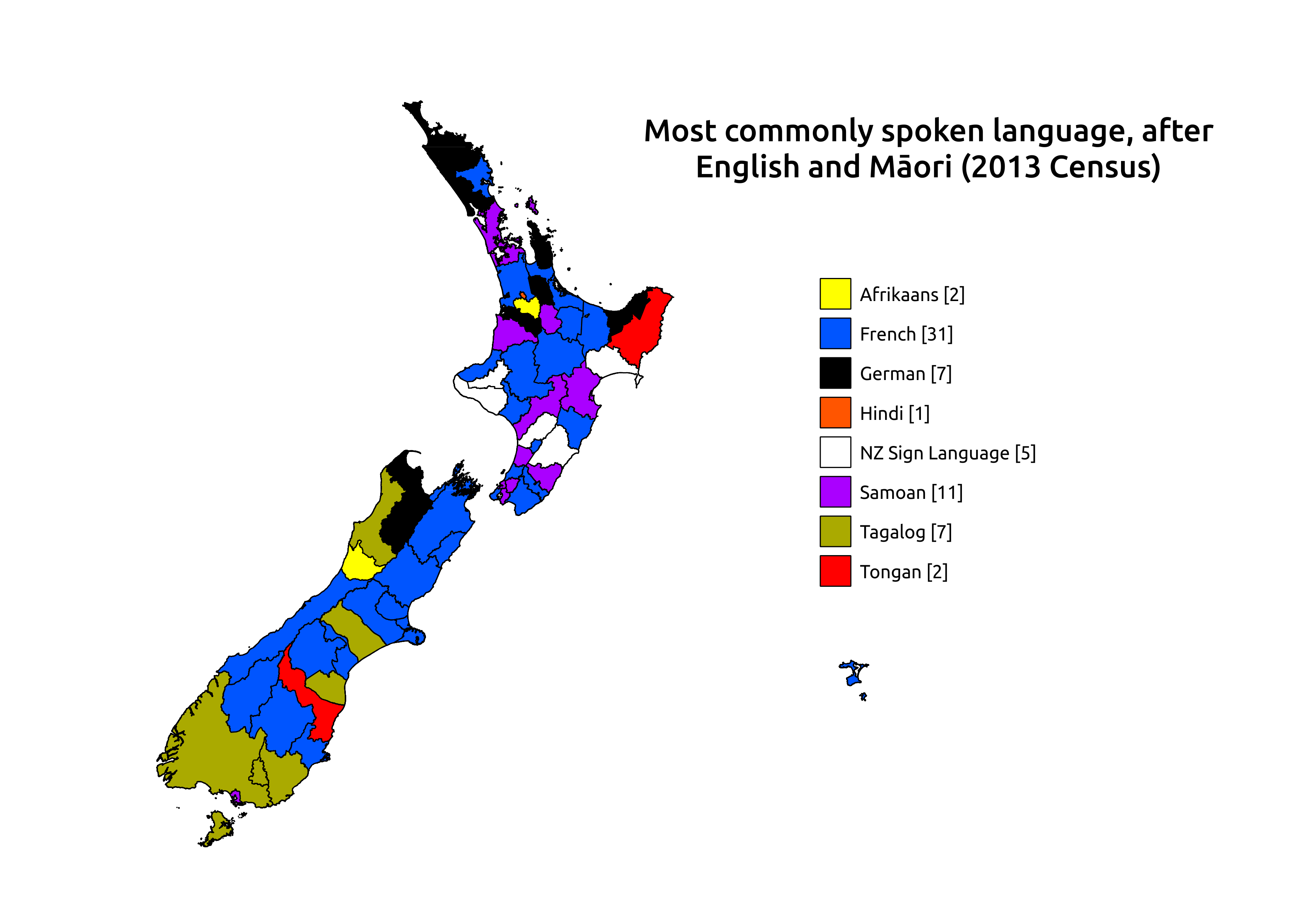 New Zealand 3rd Most Commonly Spoken Language